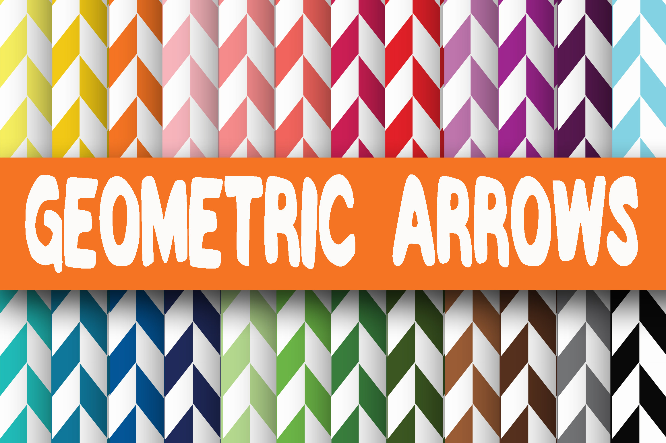 Download Free Geometric Arrows Digital Paper Graphic By Oldmarketdesigns for Cricut Explore, Silhouette and other cutting machines.