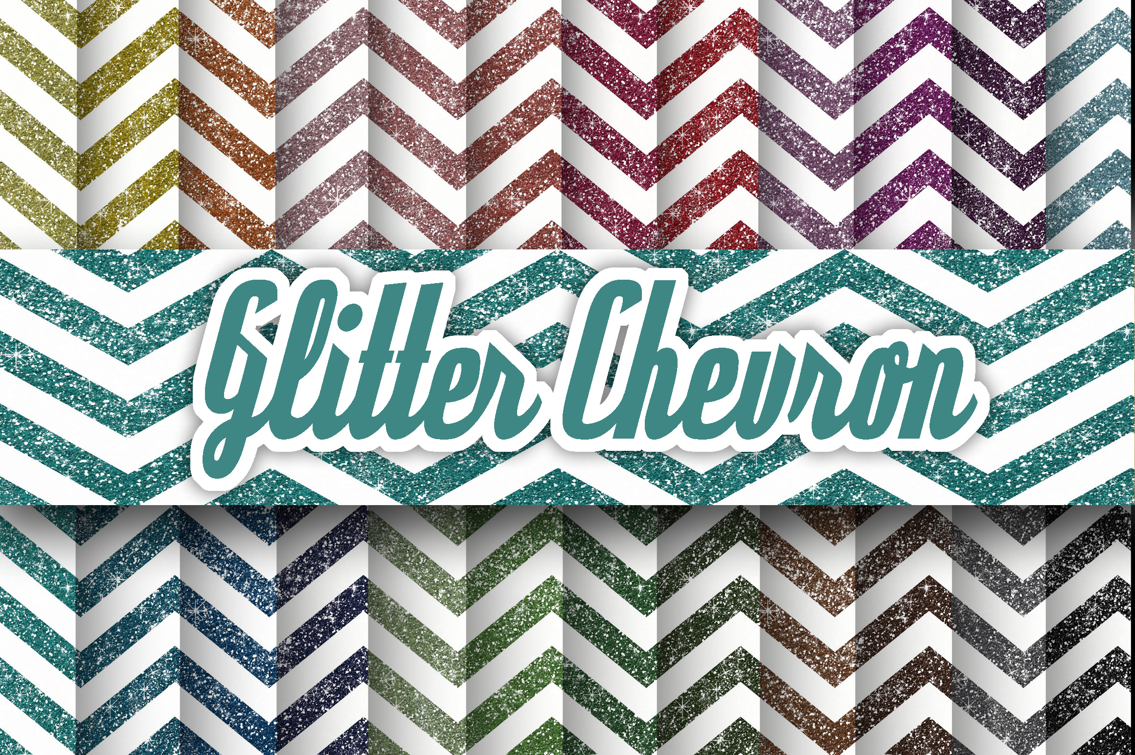 Glitter Chevron Textures Digital Paper Graphic Backgrounds By oldmarketdesigns - Image 1