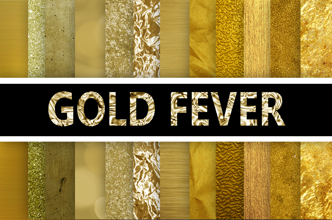 Download Free Gold Fever Gold Digital Paper Textures Graphic By for Cricut Explore, Silhouette and other cutting machines.