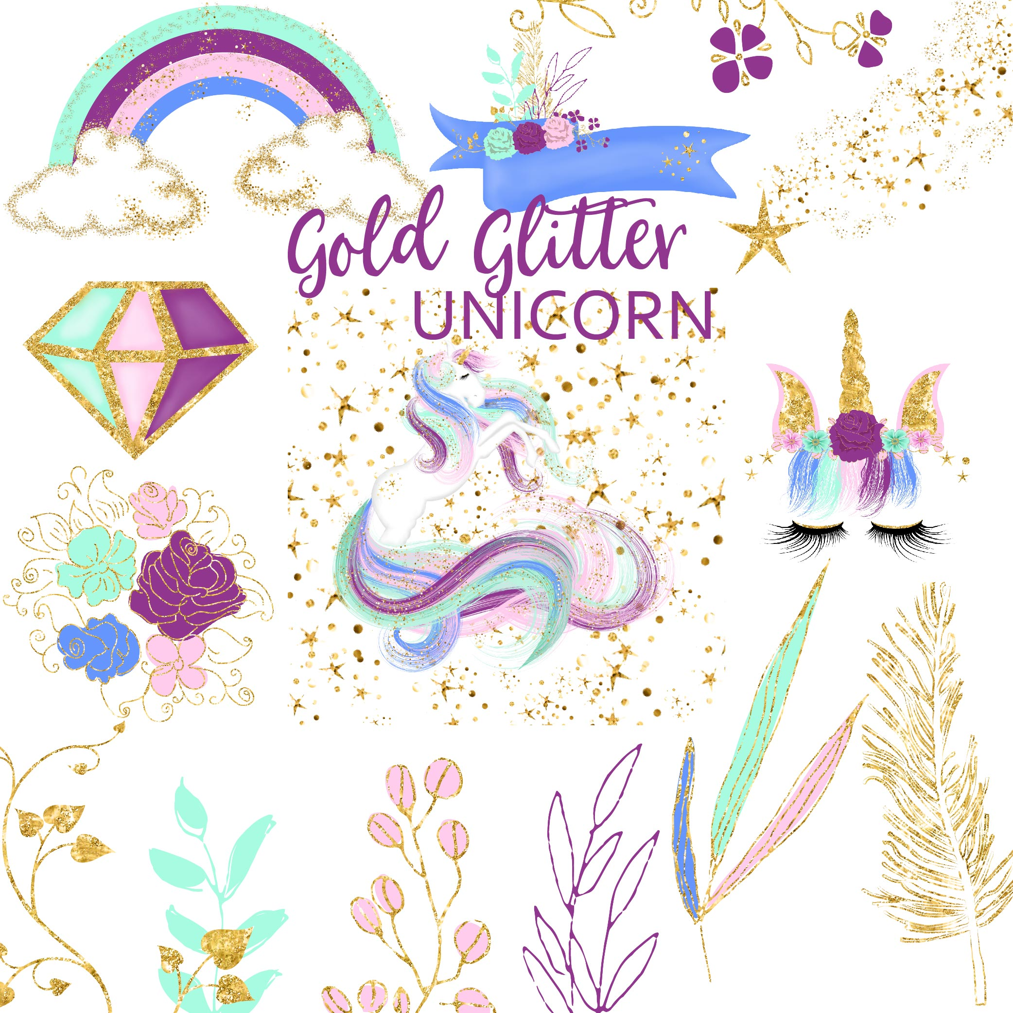 Download Free The Free Unicorn Bundle Bundle Creative Fabrica SVG Cut Files