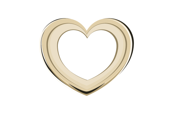 Download Free Gold Heart Monogram Svg Cut File By Creative Fabrica Crafts for Cricut Explore, Silhouette and other cutting machines.