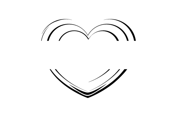 Download Free Gold Heart Split Monogram Svg Cut File By Creative Fabrica for Cricut Explore, Silhouette and other cutting machines.
