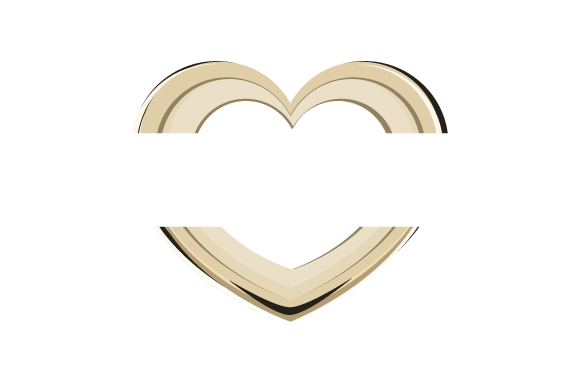 Download Free Gold Heart Split Monogram Svg Cut File By Creative Fabrica Crafts Creative Fabrica for Cricut Explore, Silhouette and other cutting machines.
