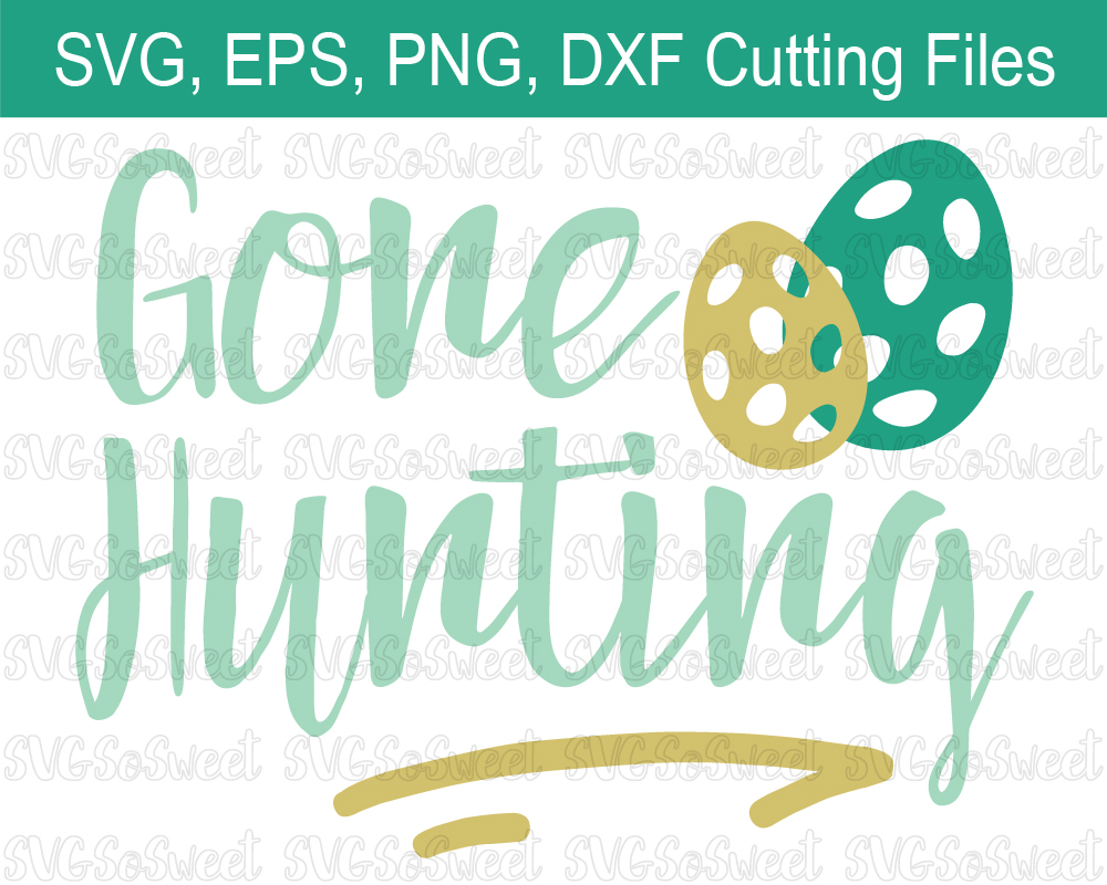 Gone Hunting - Easter Graphic Graphic By Southern Belle Graphics