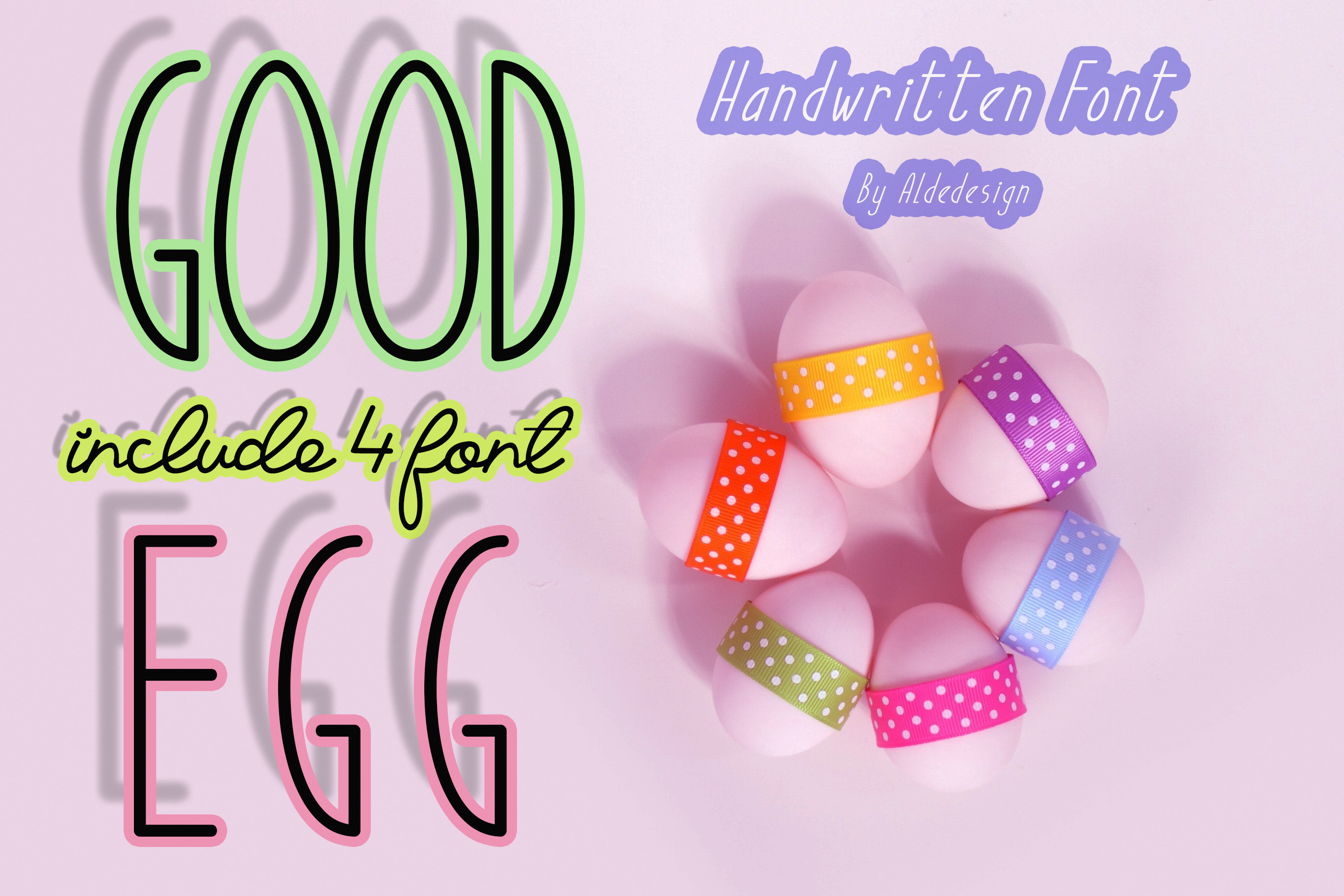 Good Egg Font By aldedesign Image 1