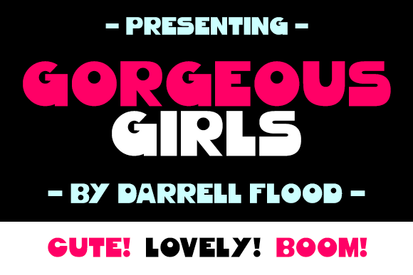 Print on Demand: Gorgeous Girls Sans Serif Schriftarten von Dadiomouse