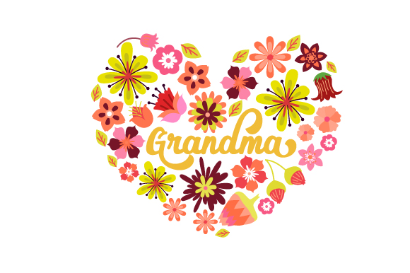 Grandma  Floral Heart Mother's Day Craft Cut File By Creative Fabrica Crafts