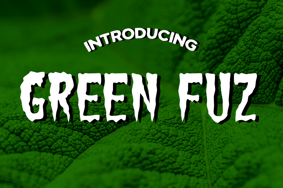 Print on Demand: Green Fuz Decorative Font By Typodermic
