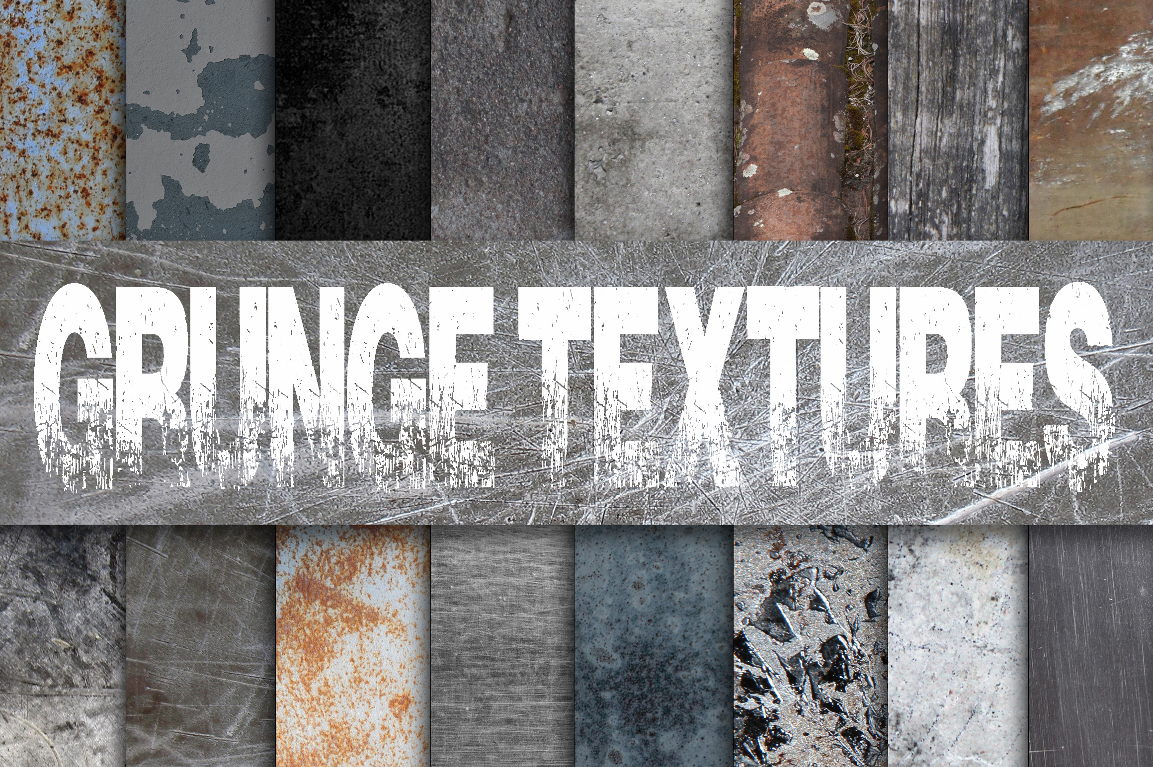Print on Demand: Grunge Metal Textures Digital Paper Graphic Textures By oldmarketdesigns