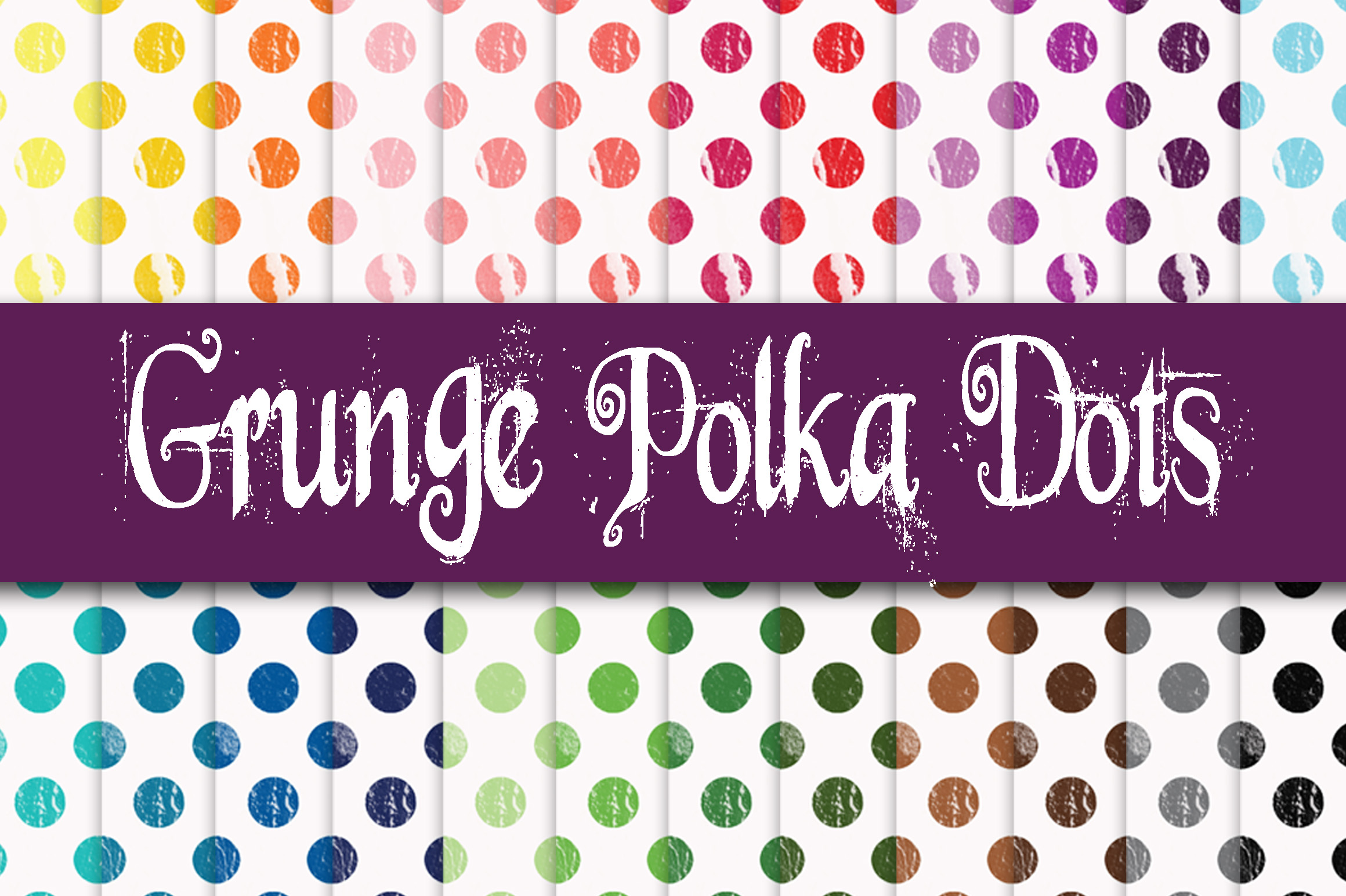 Grunge Polka Dots Digital Paper Graphic Backgrounds By oldmarketdesigns - Image 1
