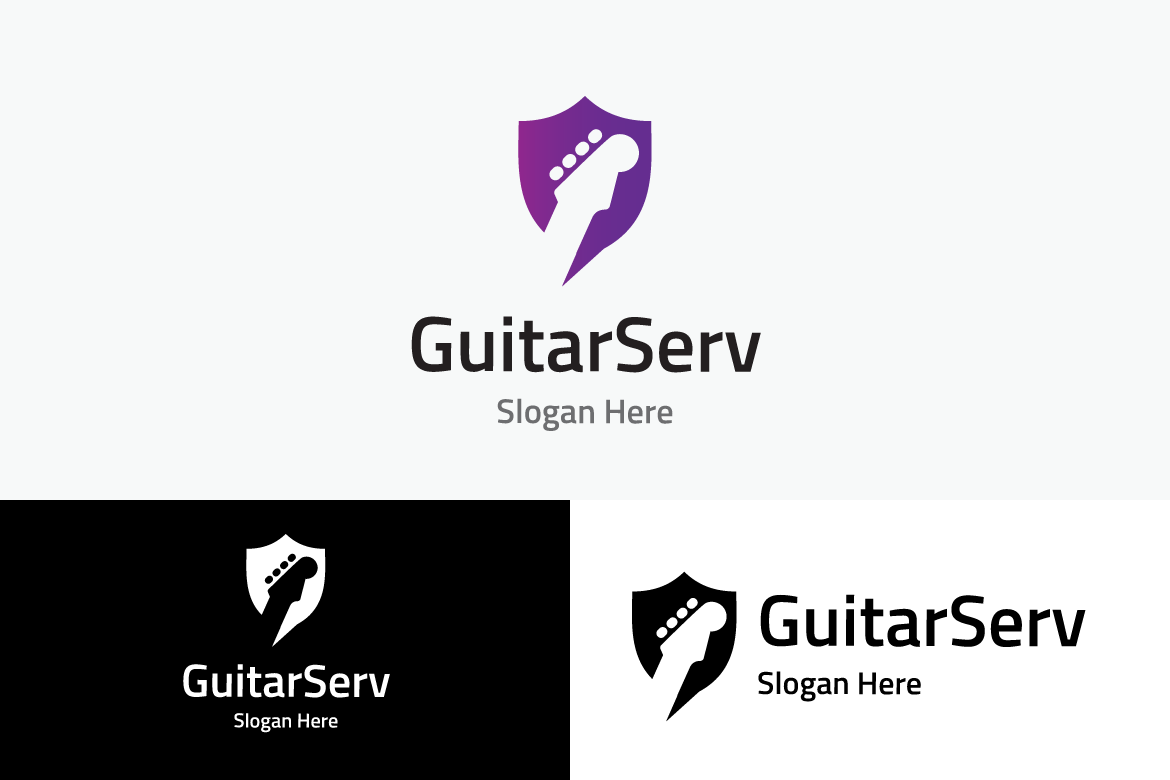 Guitar Service Graphic Logos By yip87 - Image 2