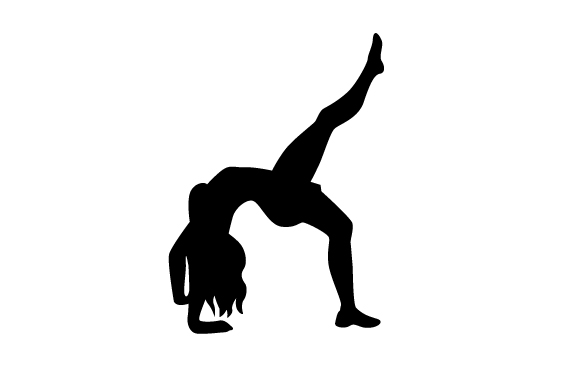 Download Free Gynmastics Silhouette Back Bend With Leg Up Svg Cut File By for Cricut Explore, Silhouette and other cutting machines.