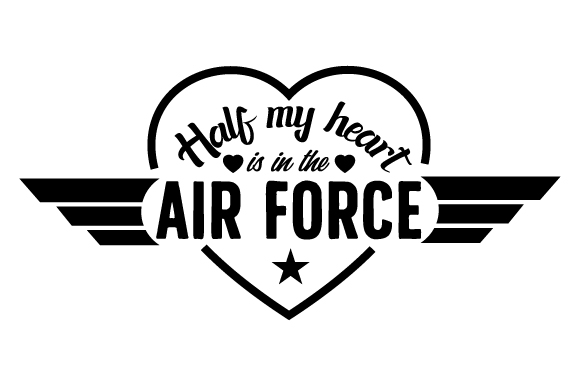 Download Free Half My Heart Is In The Air Force Svg Cut File By Creative for Cricut Explore, Silhouette and other cutting machines.