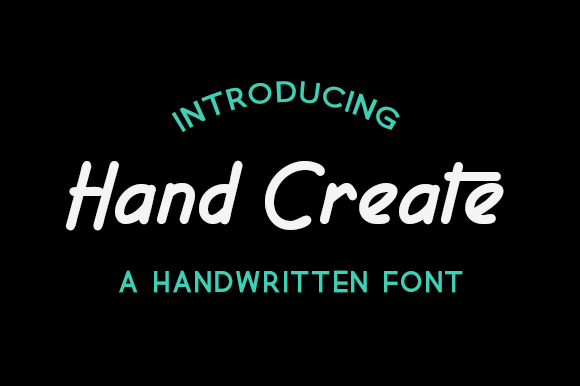 Print on Demand: Hand Create Sans Serif Fuente Por harizandy