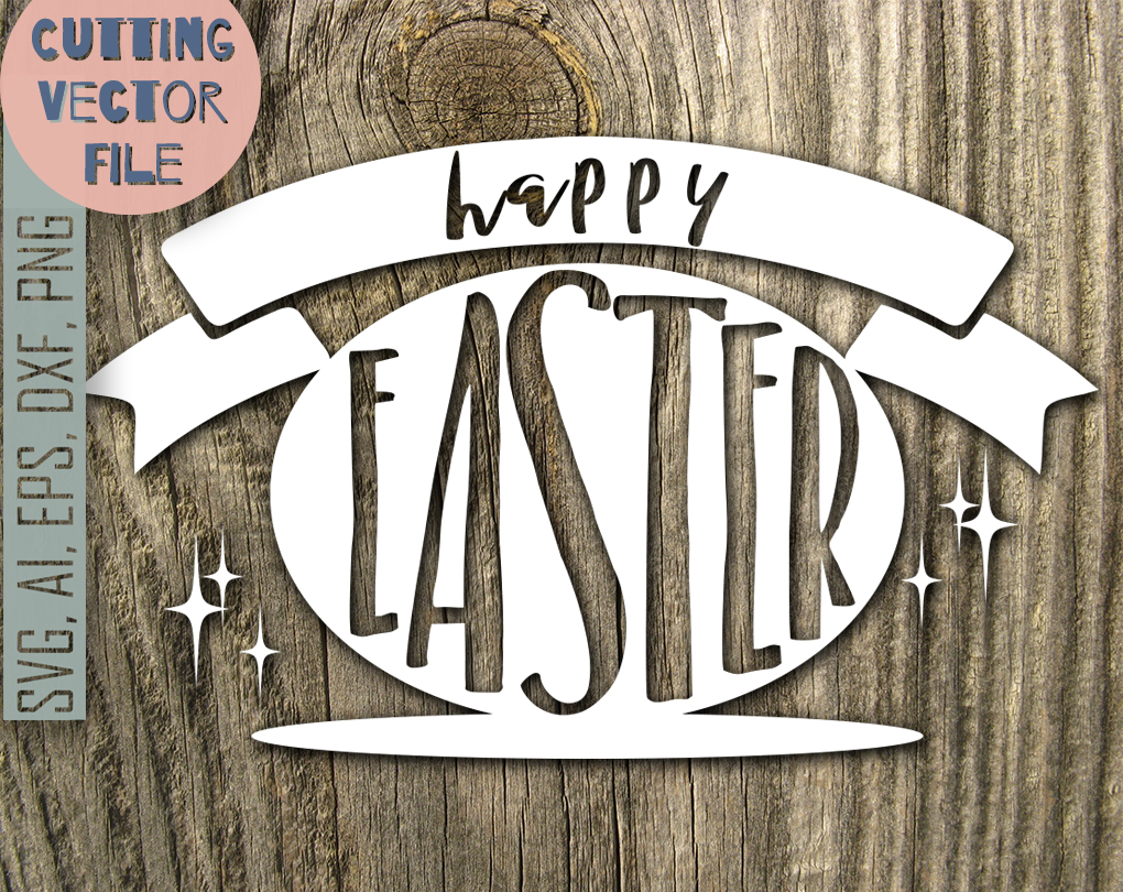 Download Free Happy Easter Message Svg Graphic By Vector City Skyline for Cricut Explore, Silhouette and other cutting machines.