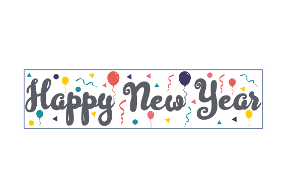 Happy New Year New Year's Craft Cut File By Creative Fabrica Crafts