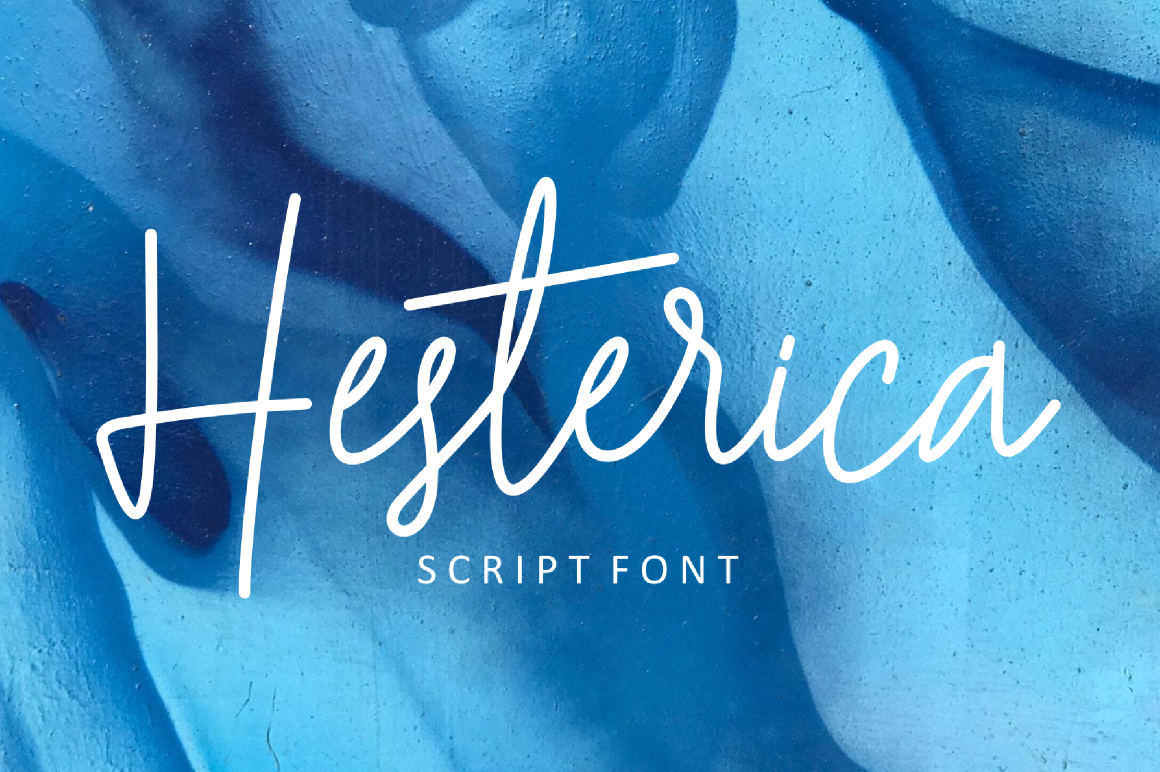 Print on Demand: Hesterica Script & Handwritten Font By windestrian