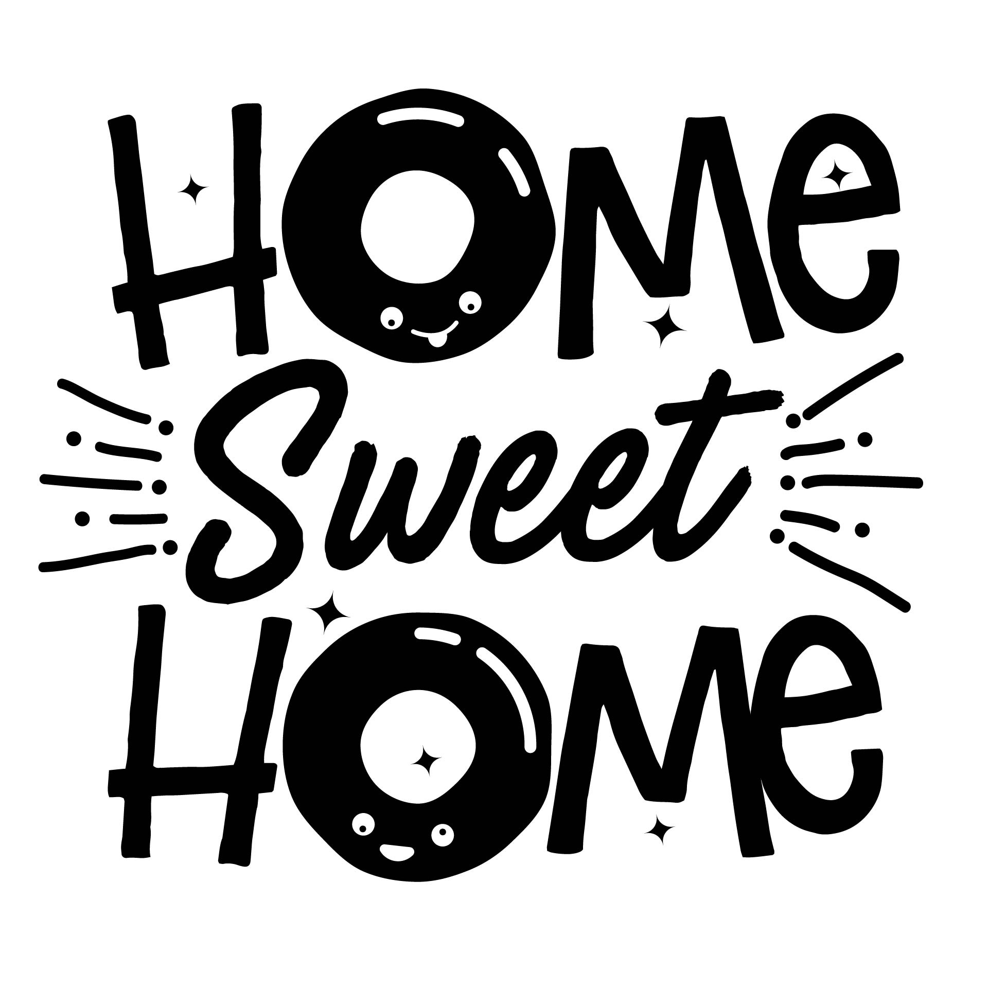 Home Sweet Home Design Graphic by davidrockdesign - Creative Fabrica