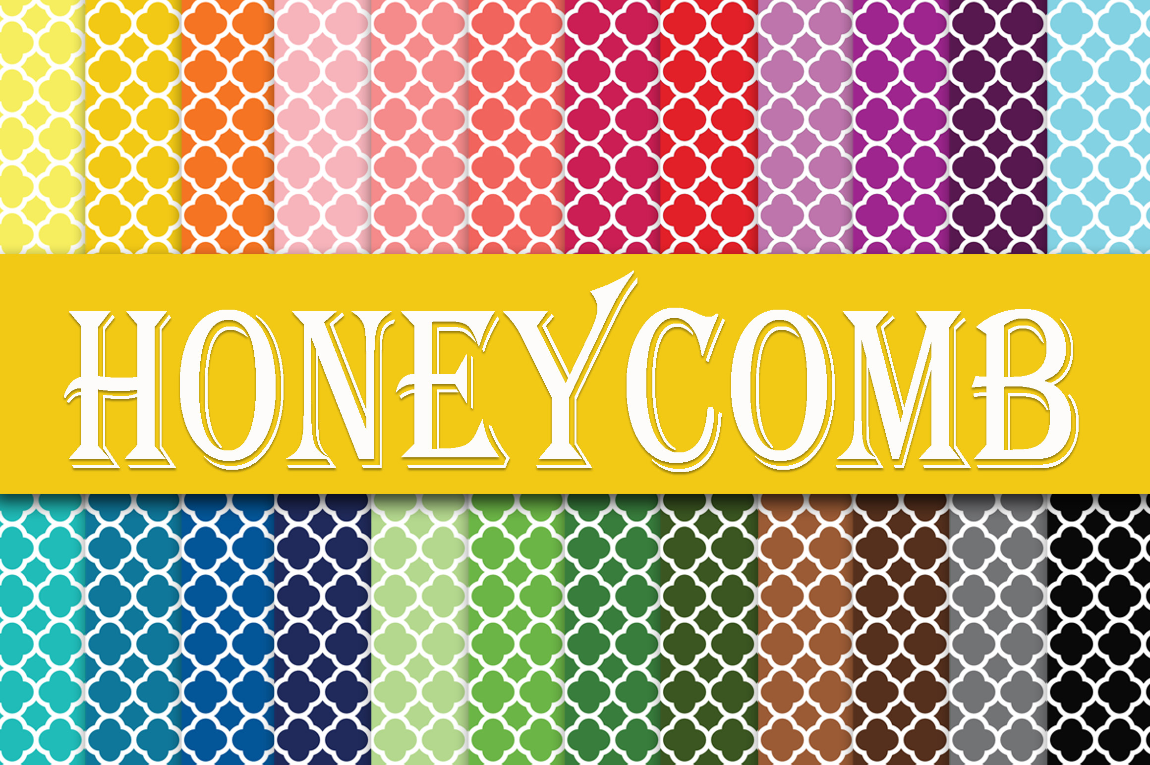 Print on Demand: Honeycomb Digital Paper Graphic Backgrounds By oldmarketdesigns