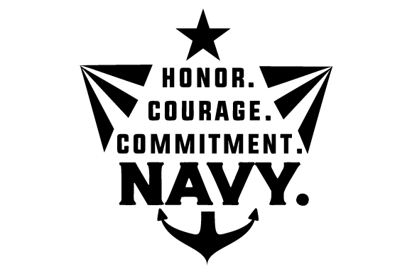 Honor. Courage. Commitment. Navy. Military Craft Cut File By Creative Fabrica Crafts