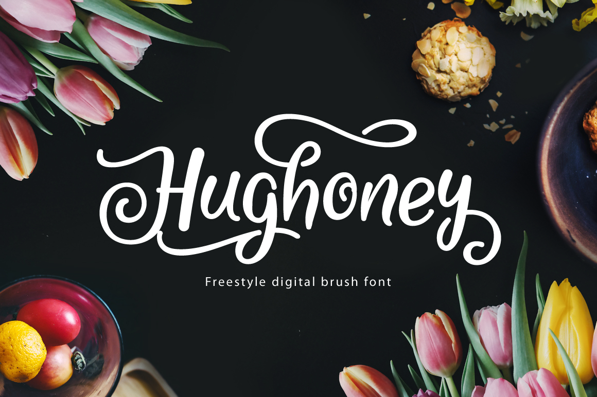Print on Demand: Hughoney Script & Handwritten Font By Arterfak Project