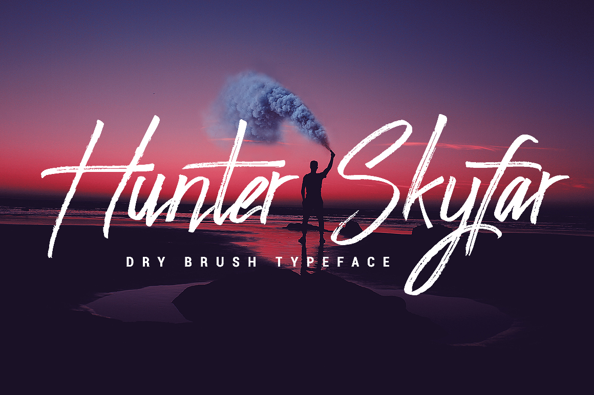 Print on Demand: Hunter Skyfar Script & Handwritten Font By feydesign
