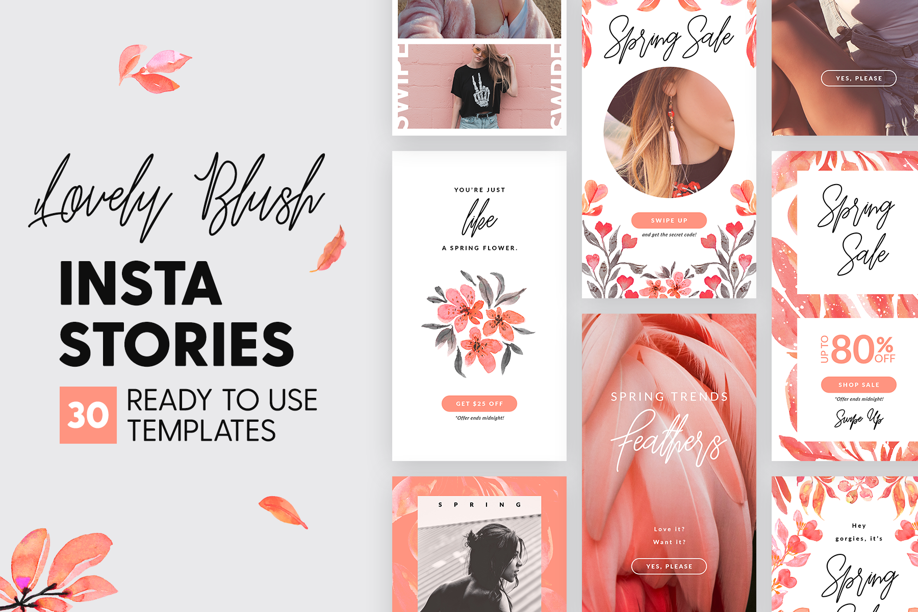 Download Free Instagram Stories Lovely Blush Graphic By Lavie1blonde SVG Cut Files