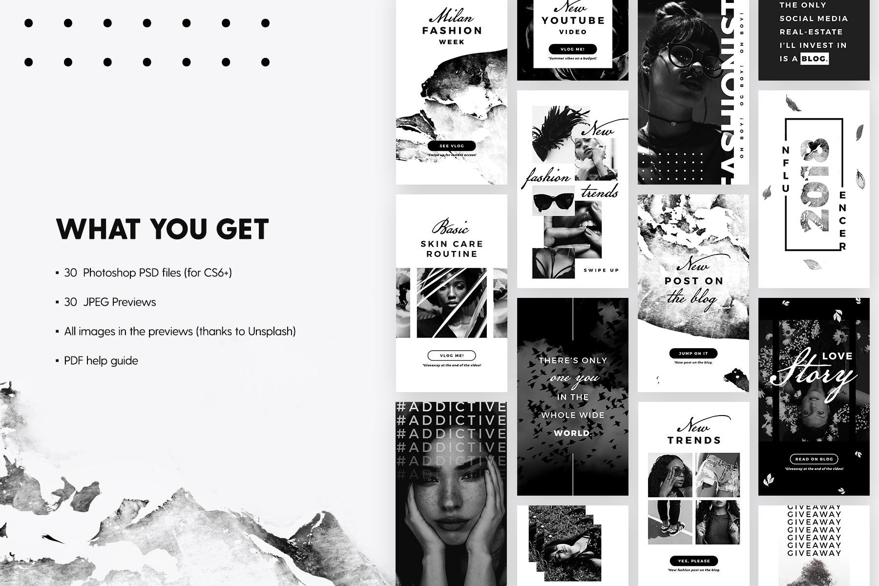 Print on Demand: Instagram Stories - Noir Beauty Graphic Web Templates By lavie1blonde - Image 2