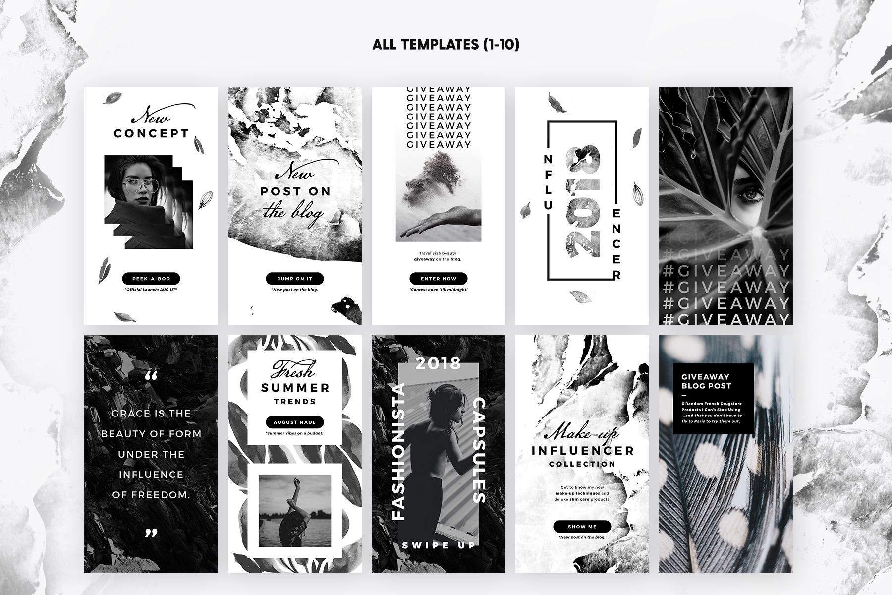 Print on Demand: Instagram Stories - Noir Beauty Graphic Web Templates By lavie1blonde - Image 3