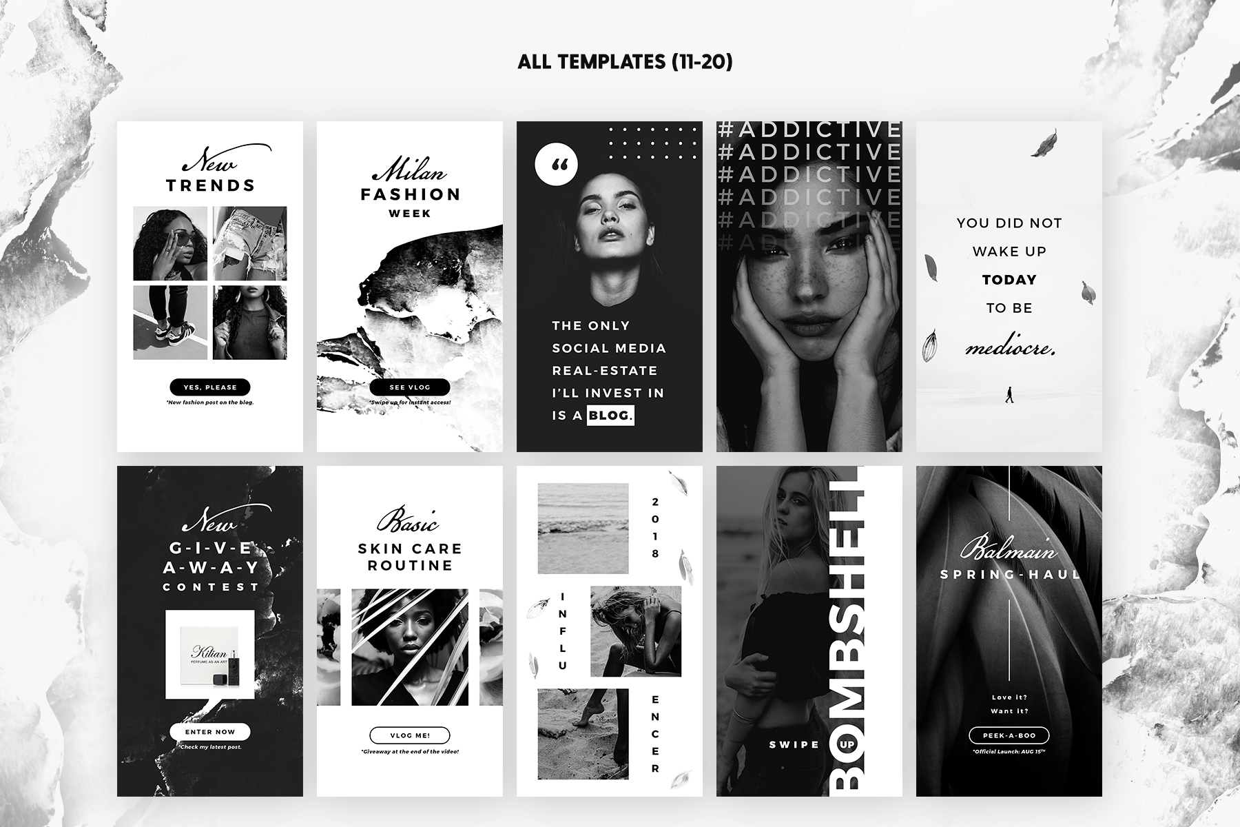 Print on Demand: Instagram Stories - Noir Beauty Graphic Web Templates By lavie1blonde - Image 4