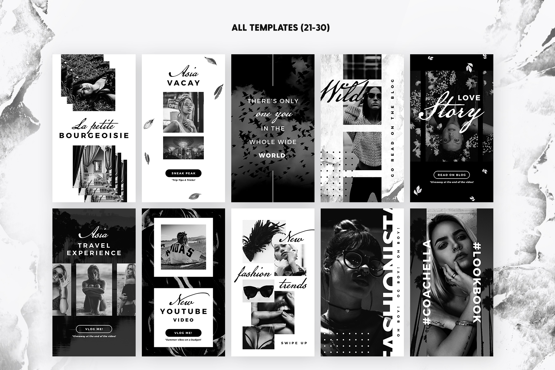 Print on Demand: Instagram Stories - Noir Beauty Graphic Web Templates By lavie1blonde - Image 5