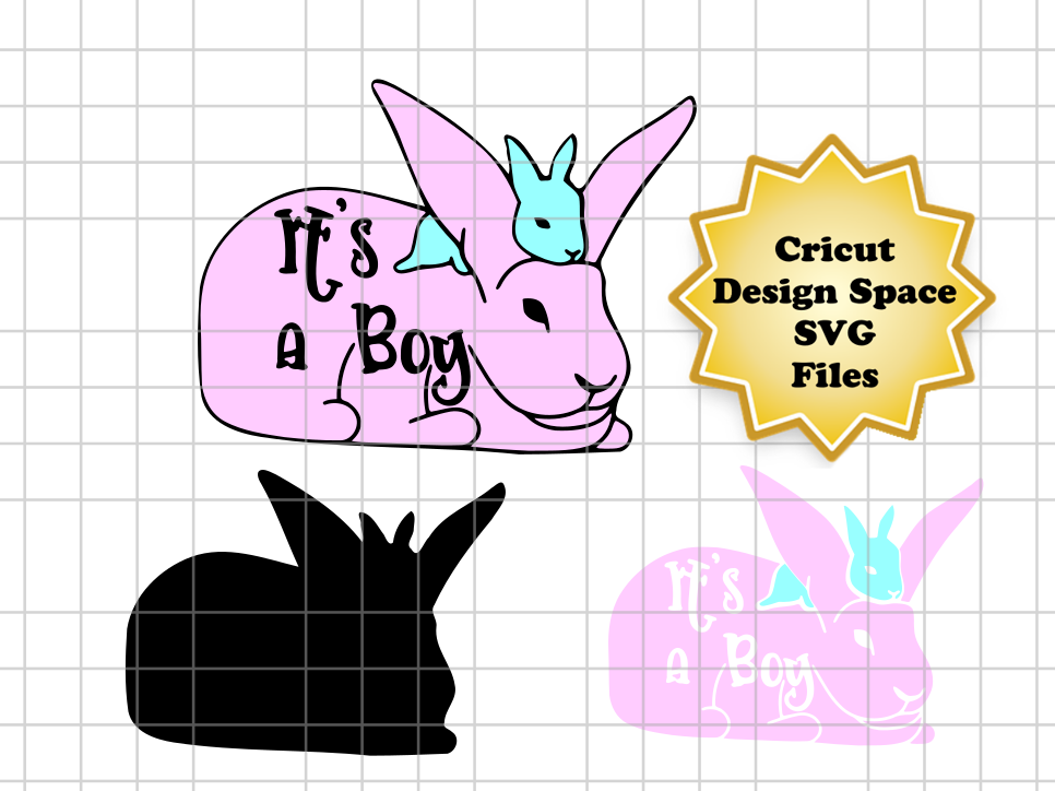 Download Free It S A Boy Easter Bunny Graphic By Sneaky Fox Entertainment for Cricut Explore, Silhouette and other cutting machines.