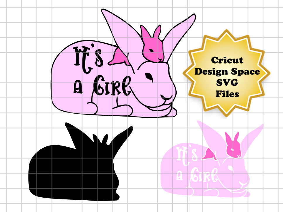 Download Free It S A Girl Easter Bunny Graphic By Sneaky Fox Entertainment SVG Cut Files