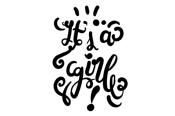 It's a Girl! Family Craft Cut File By Creative Fabrica Crafts