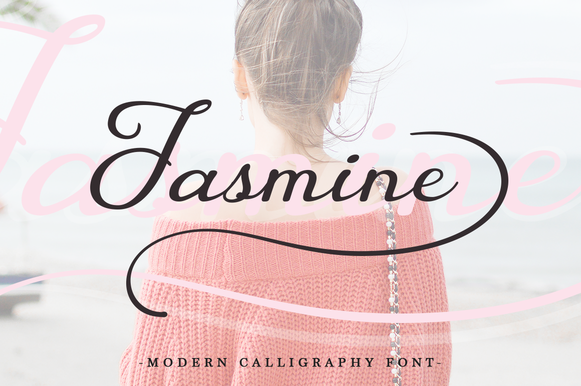 Print on Demand: Jasmine Script & Handwritten Font By Pasha Larin