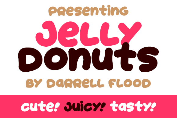 Print on Demand: Jelly Donuts Display Font By Dadiomouse - Image 3
