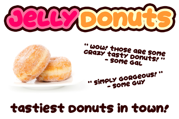 Print on Demand: Jelly Donuts Display Font By Dadiomouse - Image 5