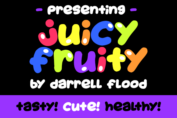 Print on Demand: Juicy Fruity Decorative Font By Dadiomouse