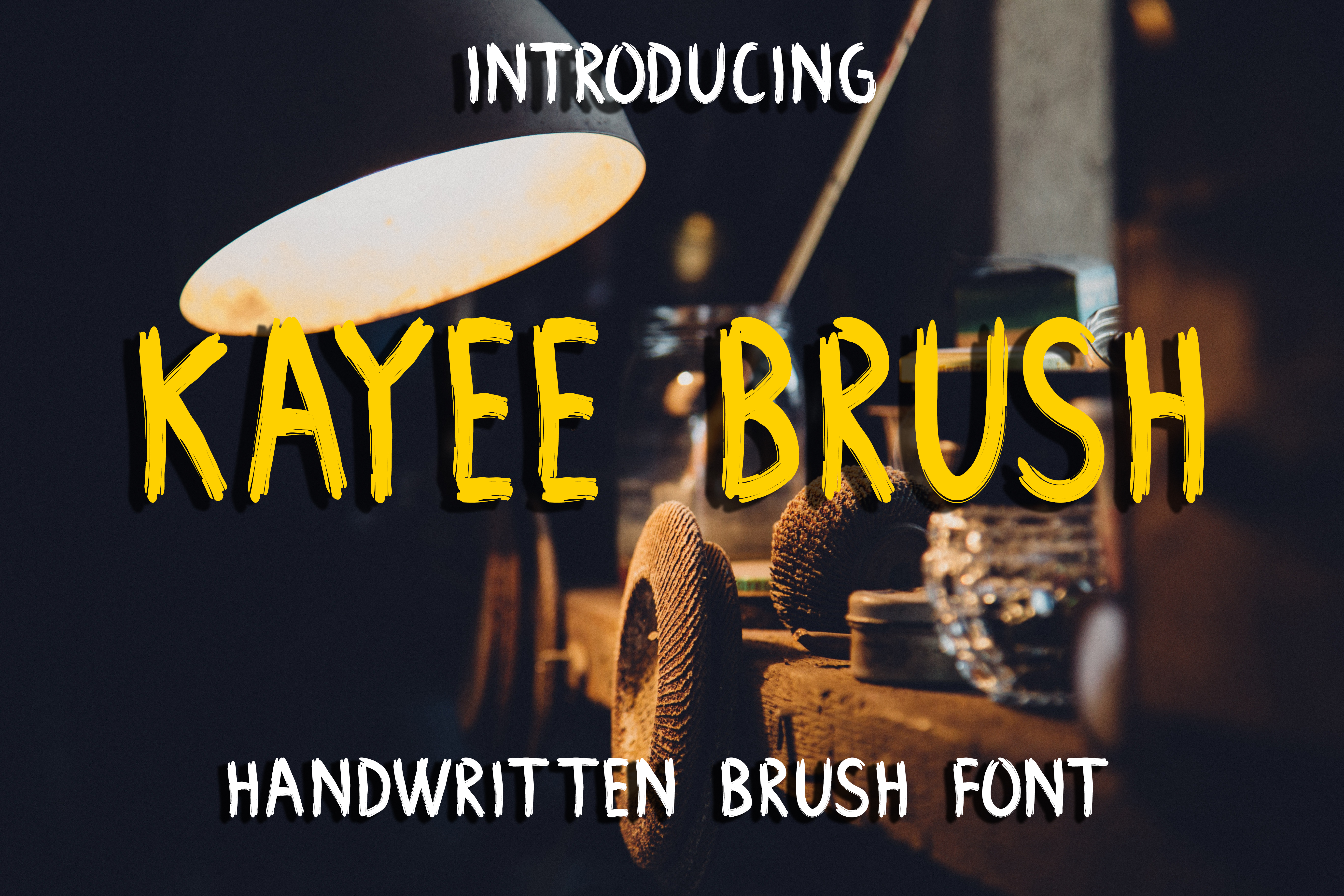 Kayee Brush Font By Boombage