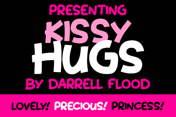 Print on Demand: Kissy Hugs Display Font By Dadiomouse