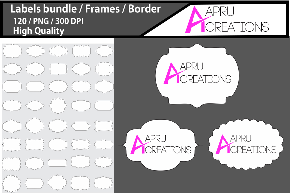 Download Free Label 1 Line Frames Clipart Graphic By Aparnastjp Creative Fabrica for Cricut Explore, Silhouette and other cutting machines.