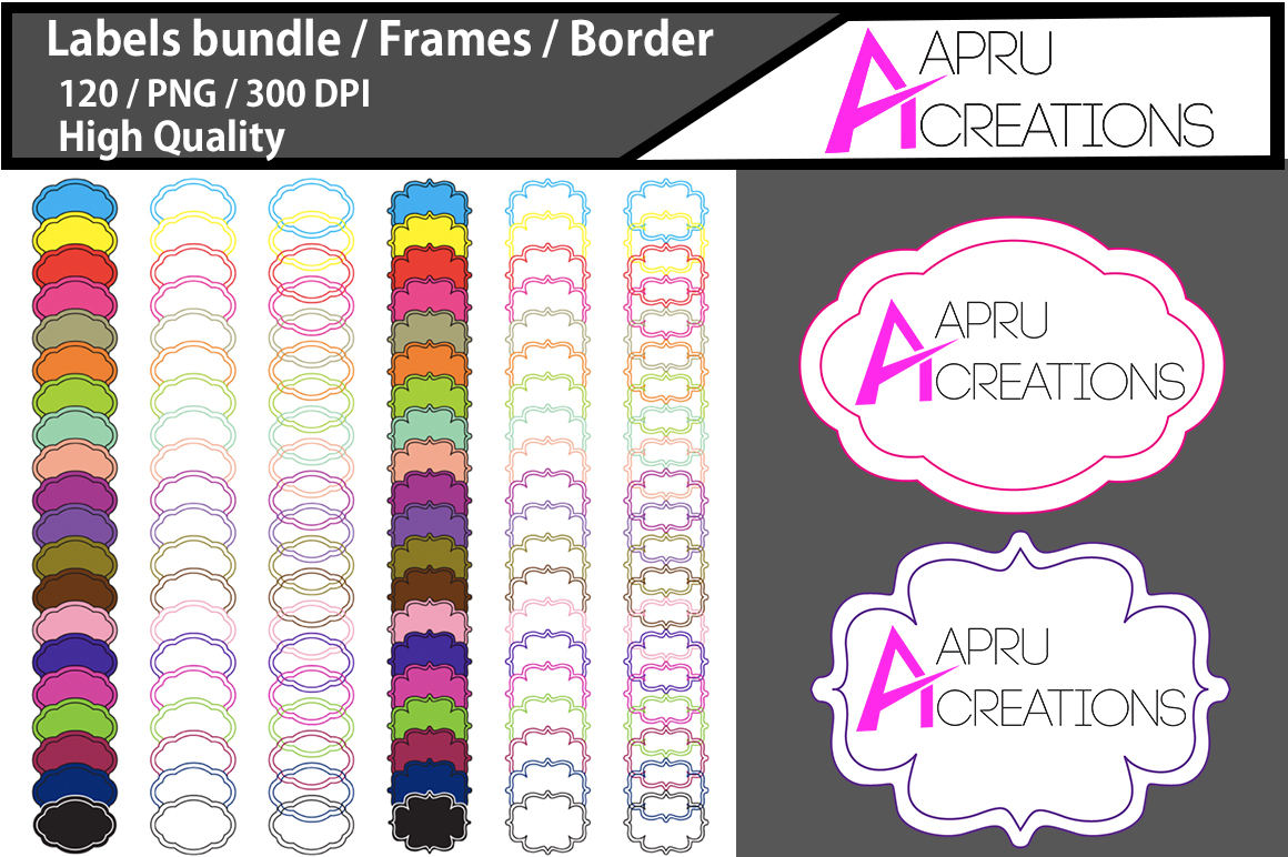 Label Frames Clipart Graphic By aparnastjp Image 1