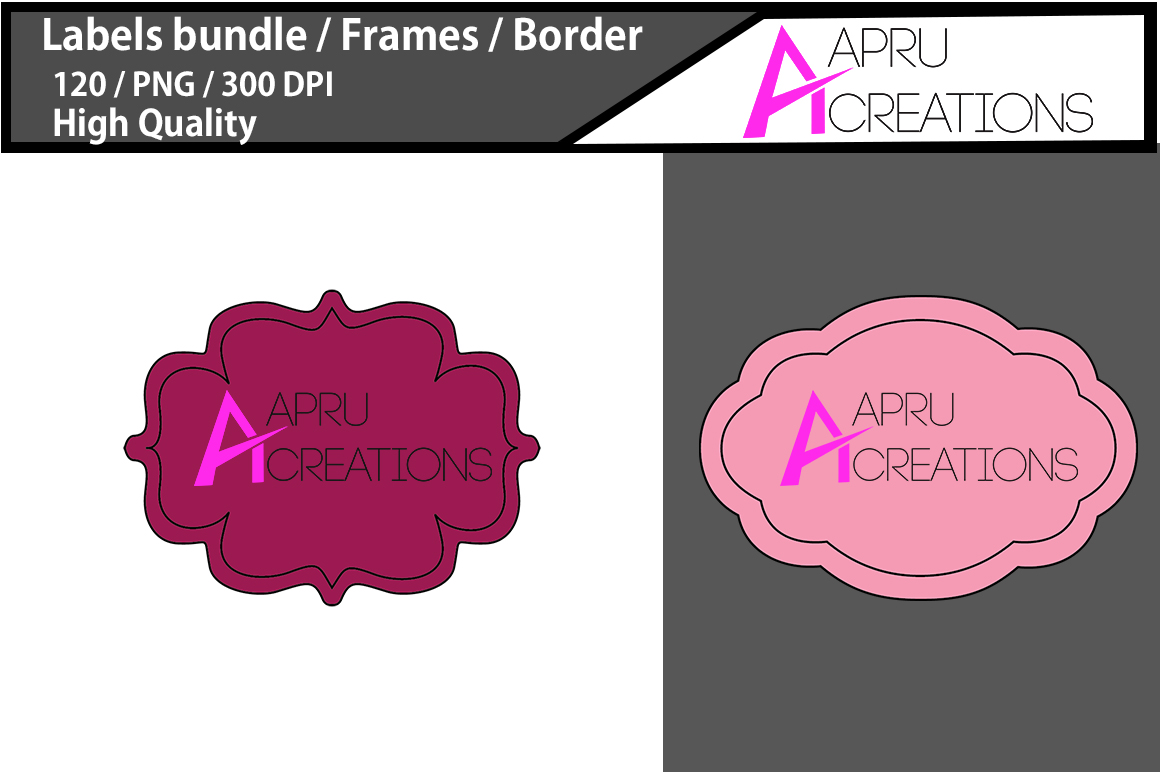 Label Frames Clipart Graphic By aparnastjp Image 2