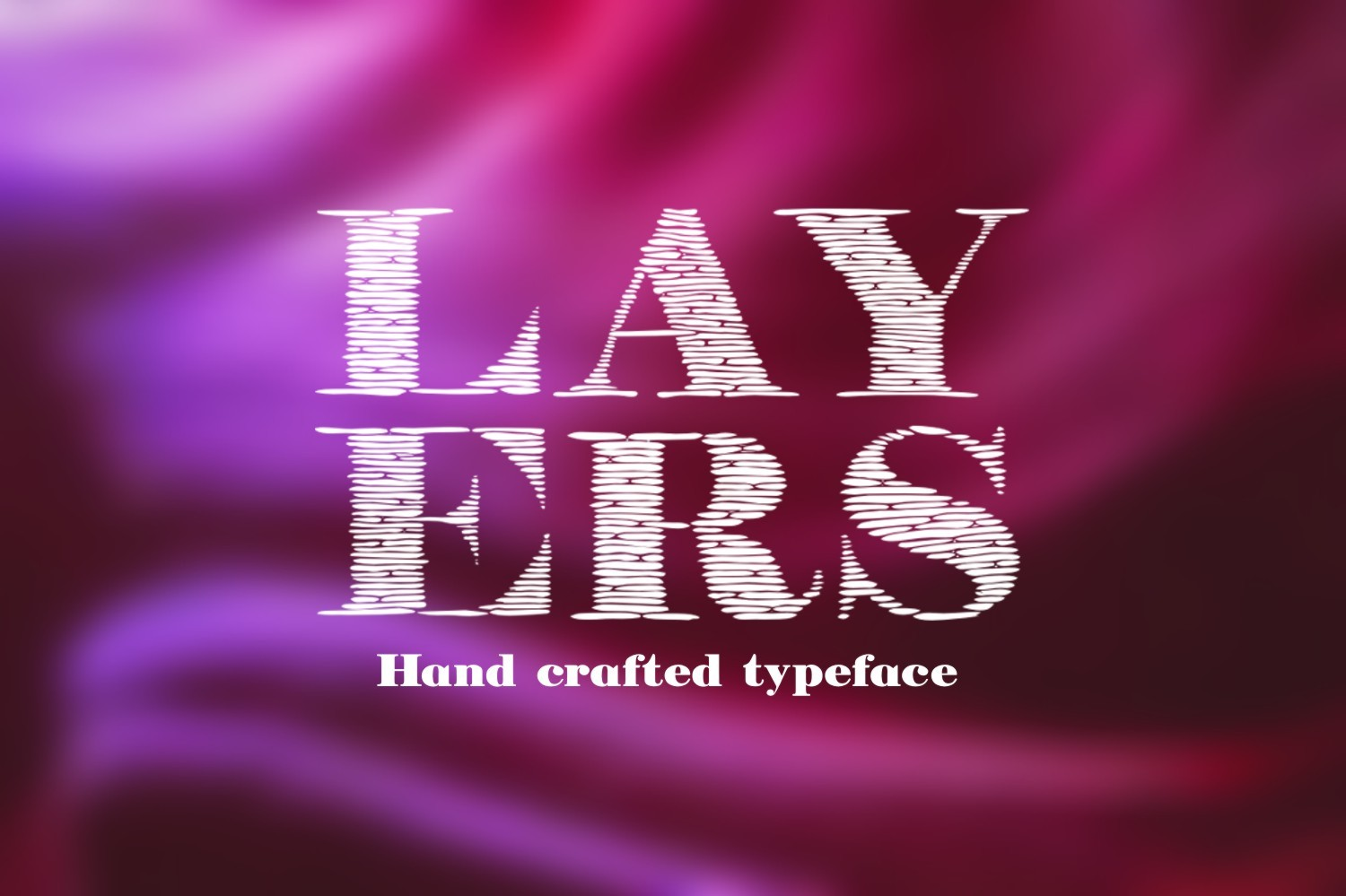 Print on Demand: Layers Decorative Font By Eva Barabasne Olasz