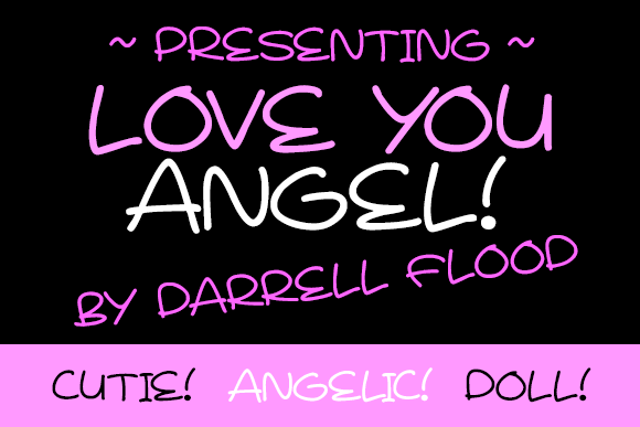 Print on Demand: Love You Angel Script & Handwritten Font By Dadiomouse