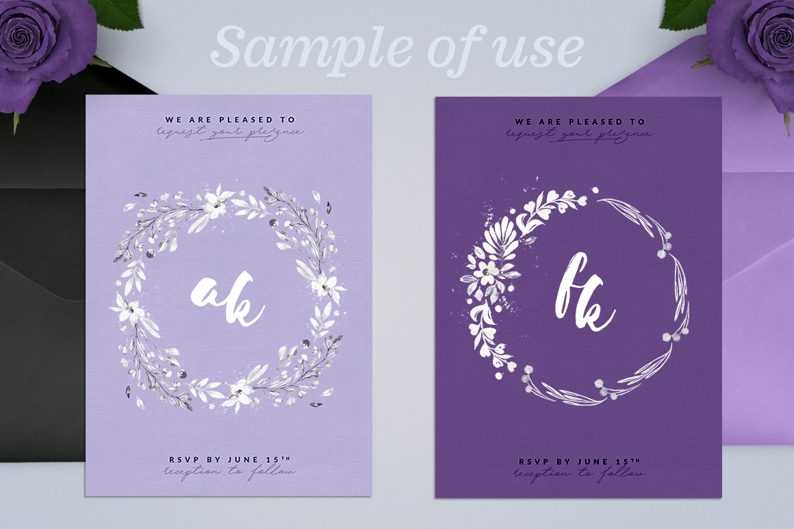 Print on Demand: Lovely Hearts Monograms V Graphic Illustrations By lavie1blonde - Image 3