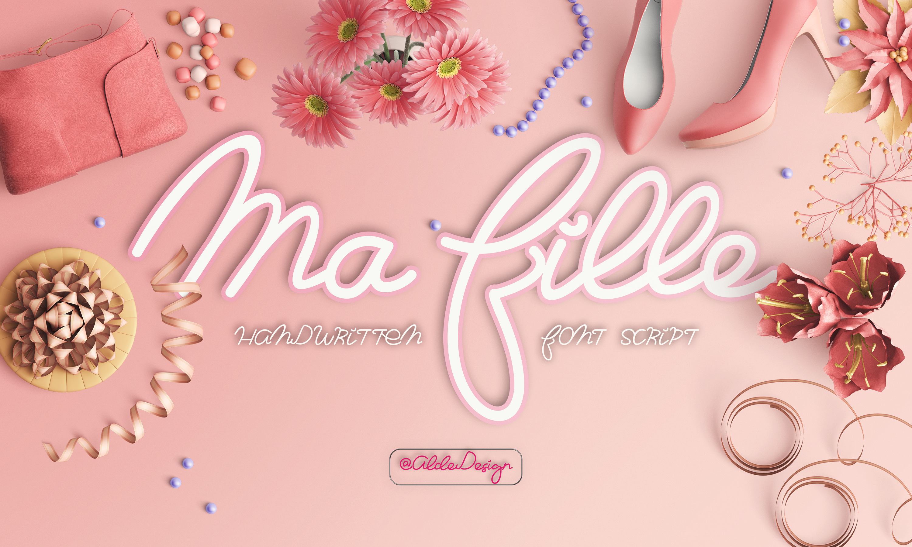 Print on Demand: Ma Fille Script & Handwritten Font By aldedesign