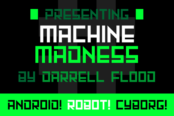 Print on Demand: Machine Madness Display Font By Dadiomouse