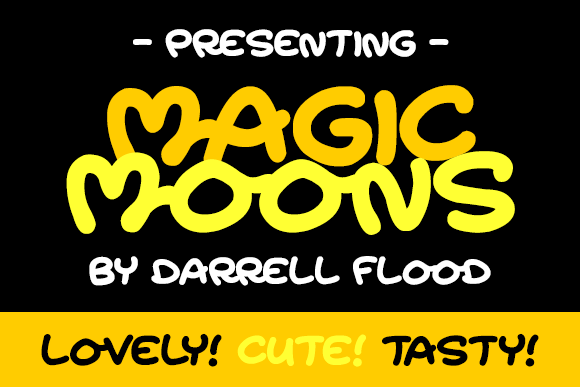 Print on Demand: Magic Moons Script & Handwritten Font By Dadiomouse
