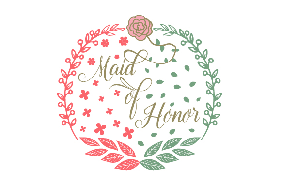 Download Free Maid Of Honor Svg Cut File By Creative Fabrica Crafts Creative Fabrica for Cricut Explore, Silhouette and other cutting machines.